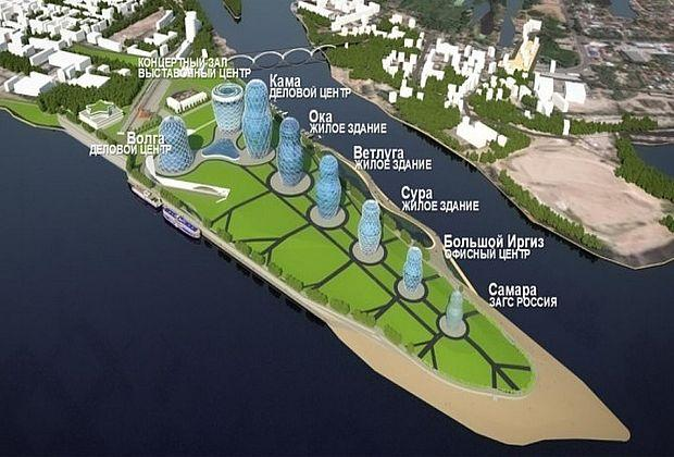 Строительство башен-матрёшек на стрелке рек Волги и Самары начнётся в 2022 году