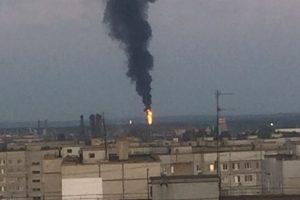 Жители Тольятти опять заметили черный дым над химическим предприятием