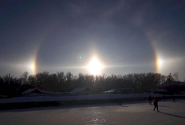 В Сызрани засняли три солнца