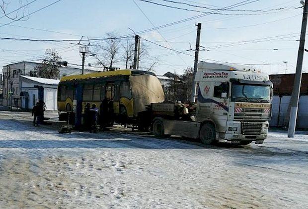 В Самару доставлен первый электробус