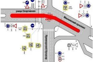 На пересечении Московского проспекта, Спортивной и Приморского бульвара вернут регулируемый перекресток