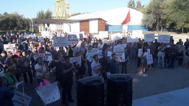 Митинг против химических выбросов прошел в Тольятти