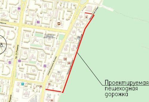 Тротуар вдоль леса в Тольятти появится к 5 сентября
