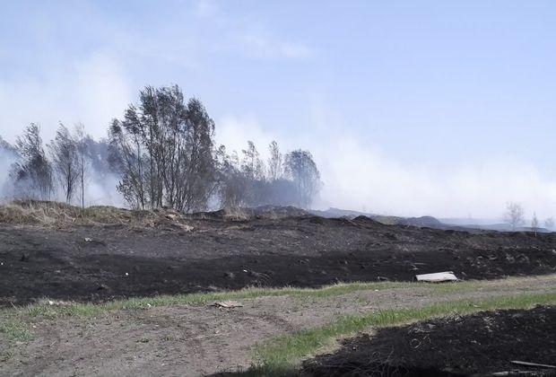 В Ташелке горит «мусороперерабатывающий завод»