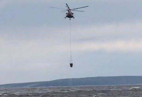 В Тольятти тушили лесной пожар с помощью вертолета